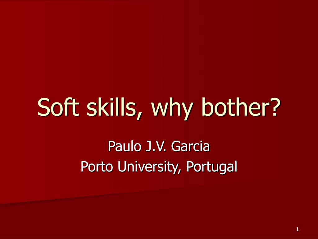 soft skills why bother