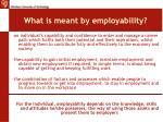 what is meant by employability