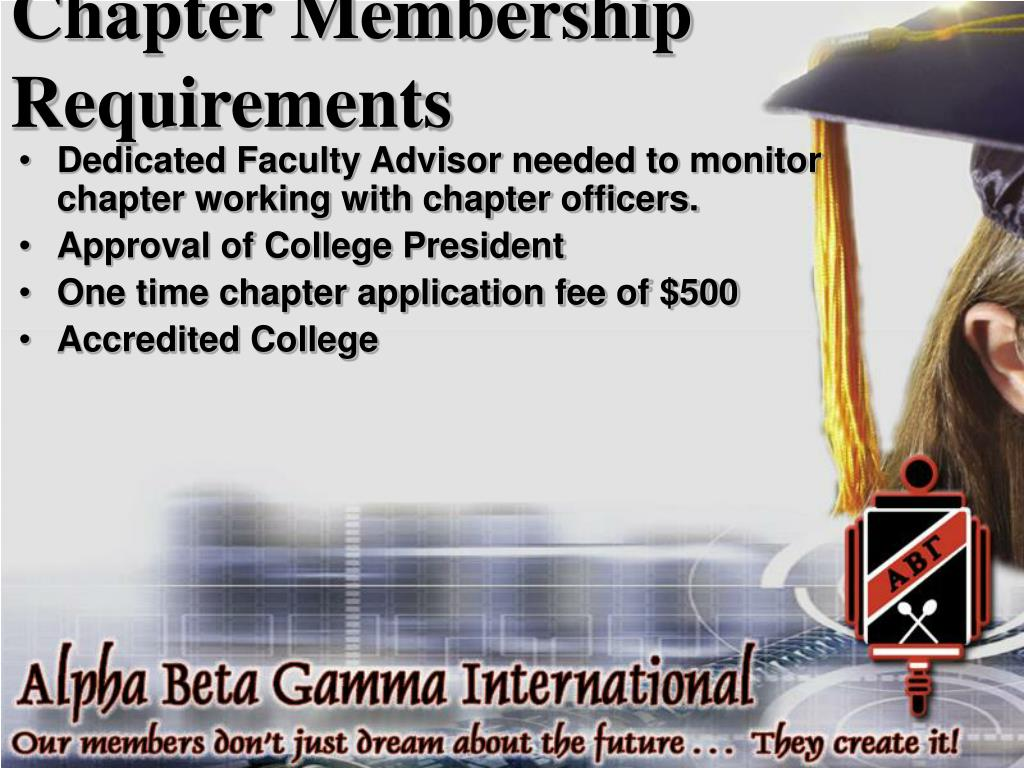 Chapter Membership Requirements