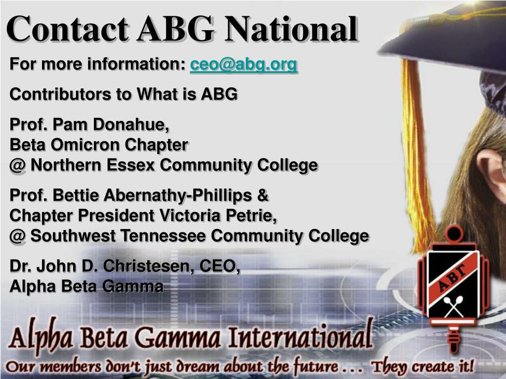 Contact ABG National