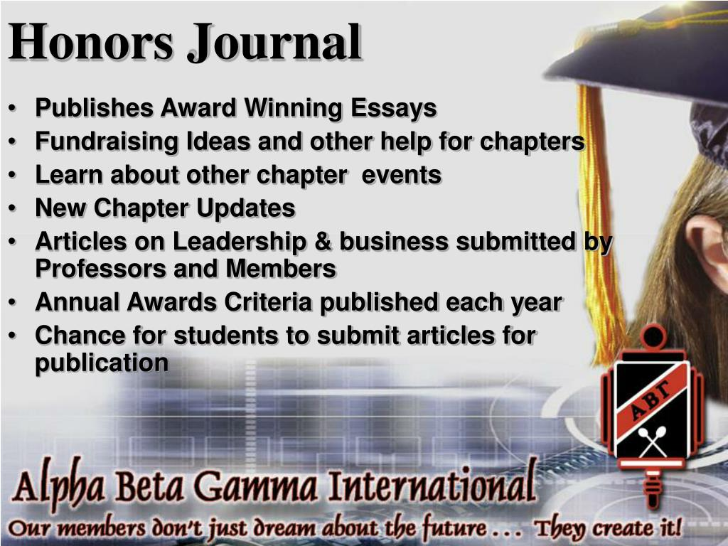 Honors Journal