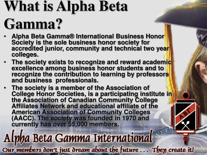 What is alpha beta gamma