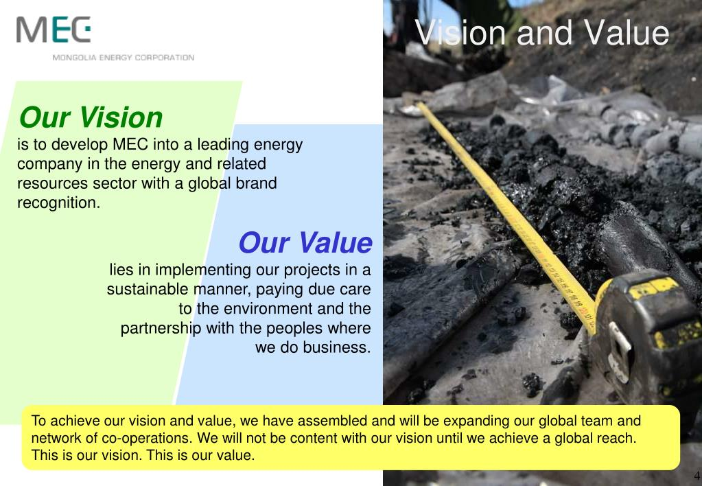 Vision and Value