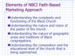 elements of nbci faith based marketing approach