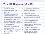 the 15 elements of hed