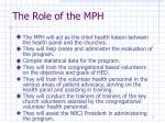 the role of the mph