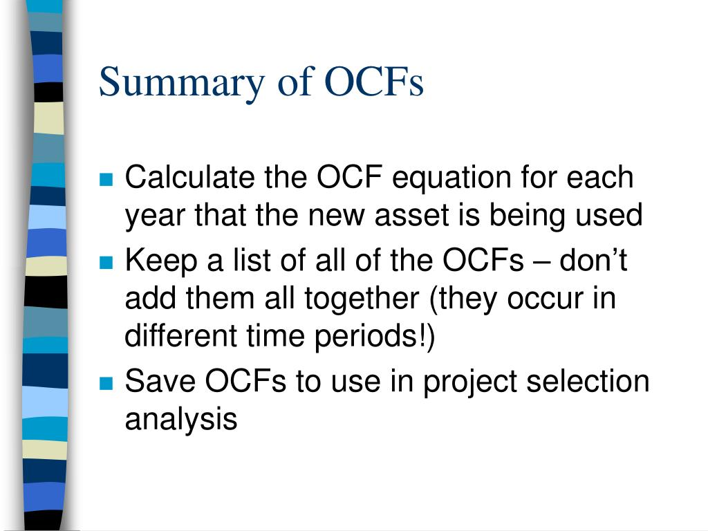Summary of OCFs