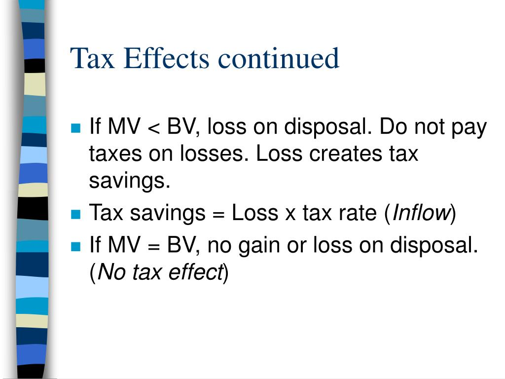 Tax Effects continued