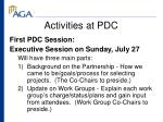 activities at pdc