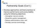 partnership goals con t
