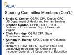 steering committee members con t
