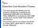 streamline cost allocation process
