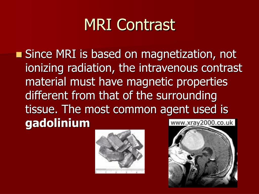MRI Contrast