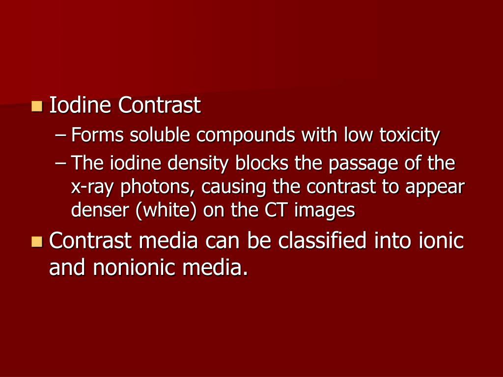 Iodine Contrast