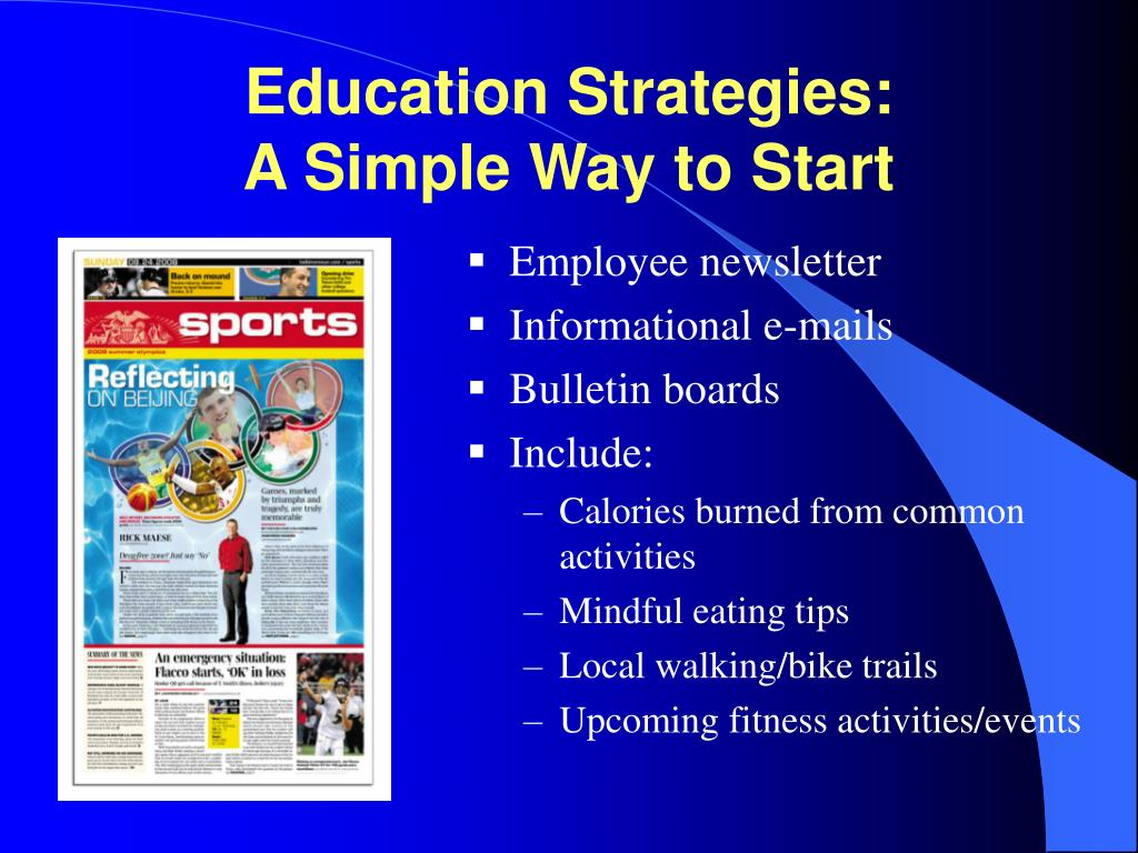 Education Strategies:
