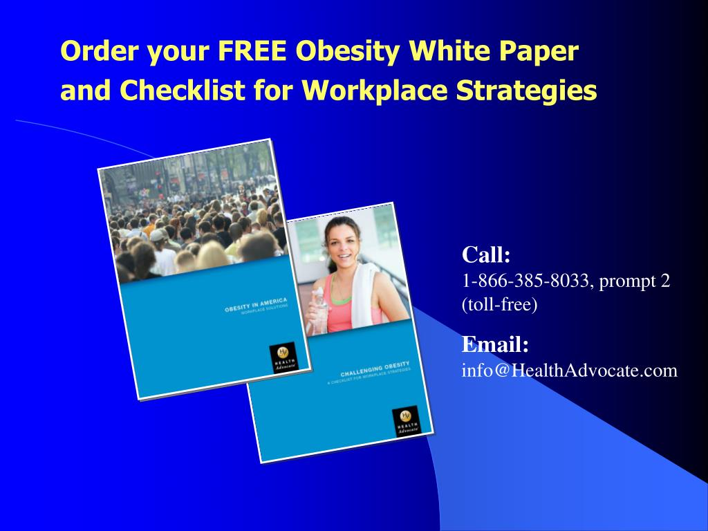 Order your FREE Obesity White Paper