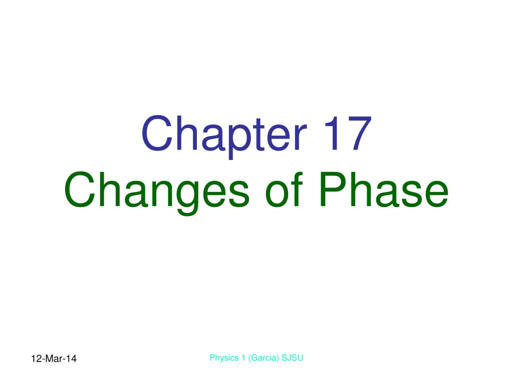 chapter 17 changes of phase