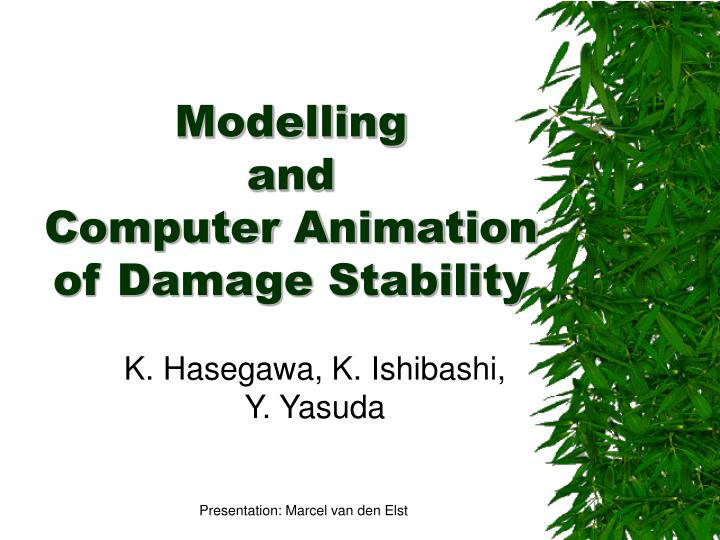 Modelling and computer animation of damage stability