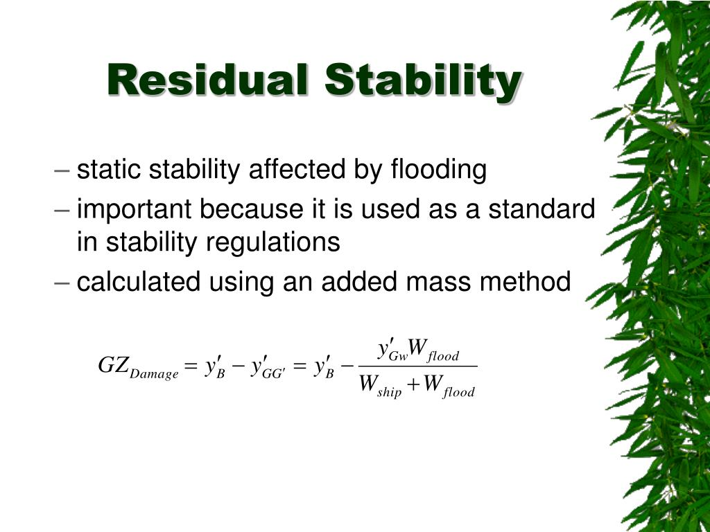 Residual Stability