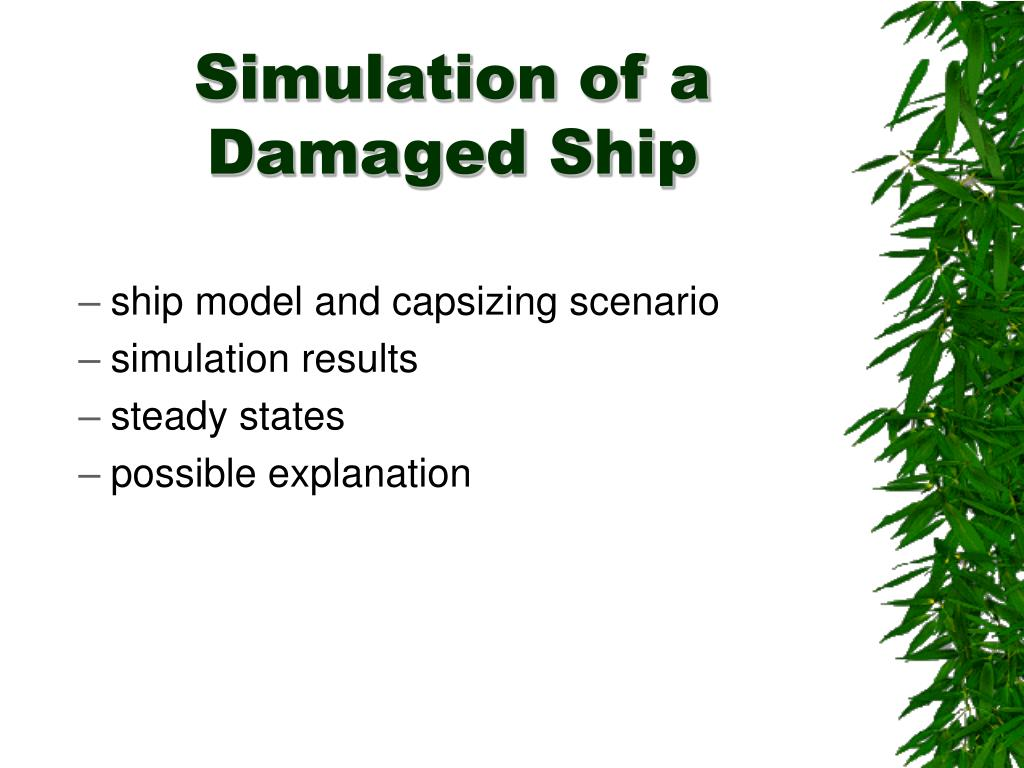 Simulation of a Damaged Ship