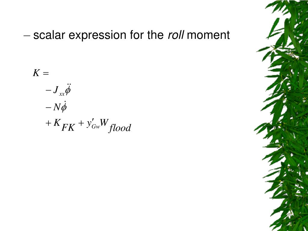 scalar expression for the