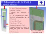cfx element model for fluid thermal analysis