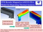 cfx results mapped to ansys fea model for repeating thermal analysis