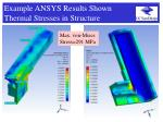 example ansys results shown thermal stresses in structure