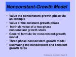 nonconstant growth model
