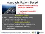 approach pattern based