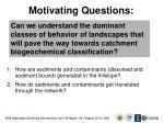 motivating questions