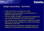 hedge accounting summary