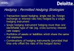 hedging permitted hedging strategies