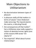 act utilitarian analysis in discrimination Kantian and utilitarian theory on discrimination act utilitarianism and kantian ethical theories a utilitarian analysis on environmental degradation.