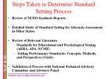 steps taken to determine standard setting process