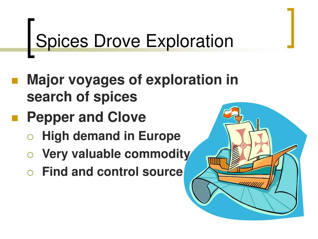Spices Drove Exploration