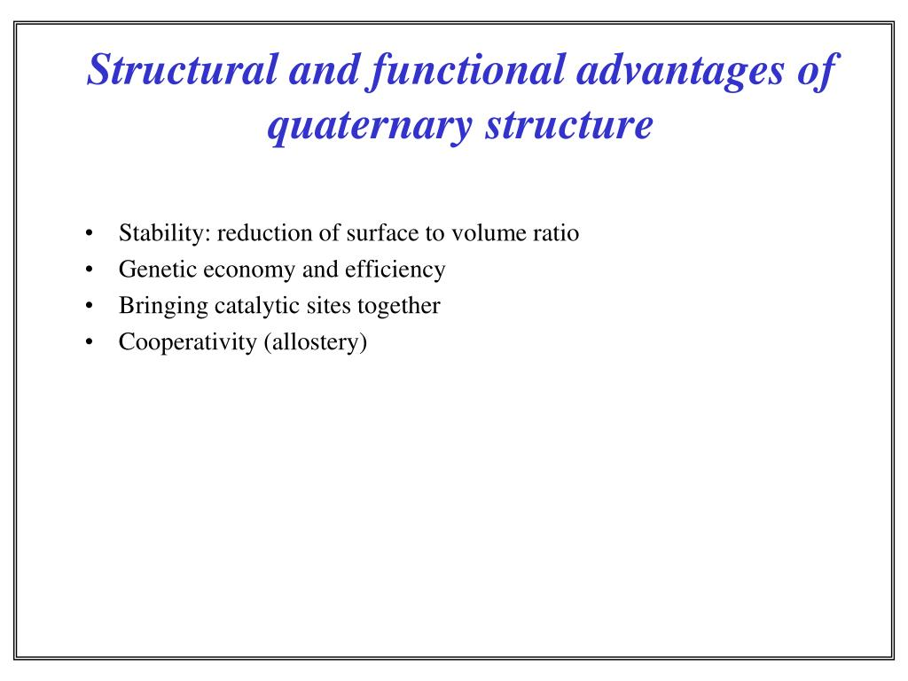 Stability: reduction of surface to volume ratio