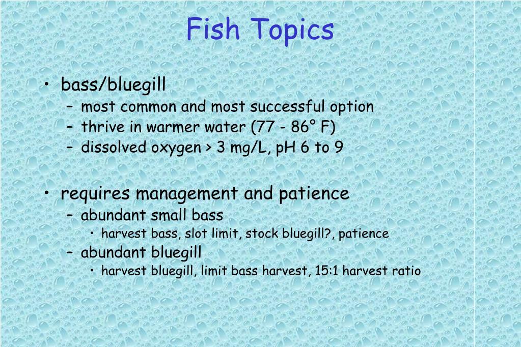 Fish Topics