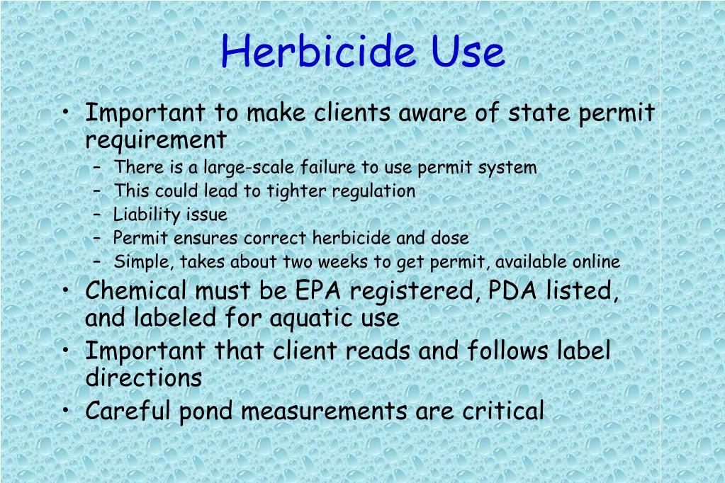 Herbicide Use