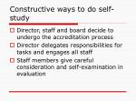 constructive ways to do self study