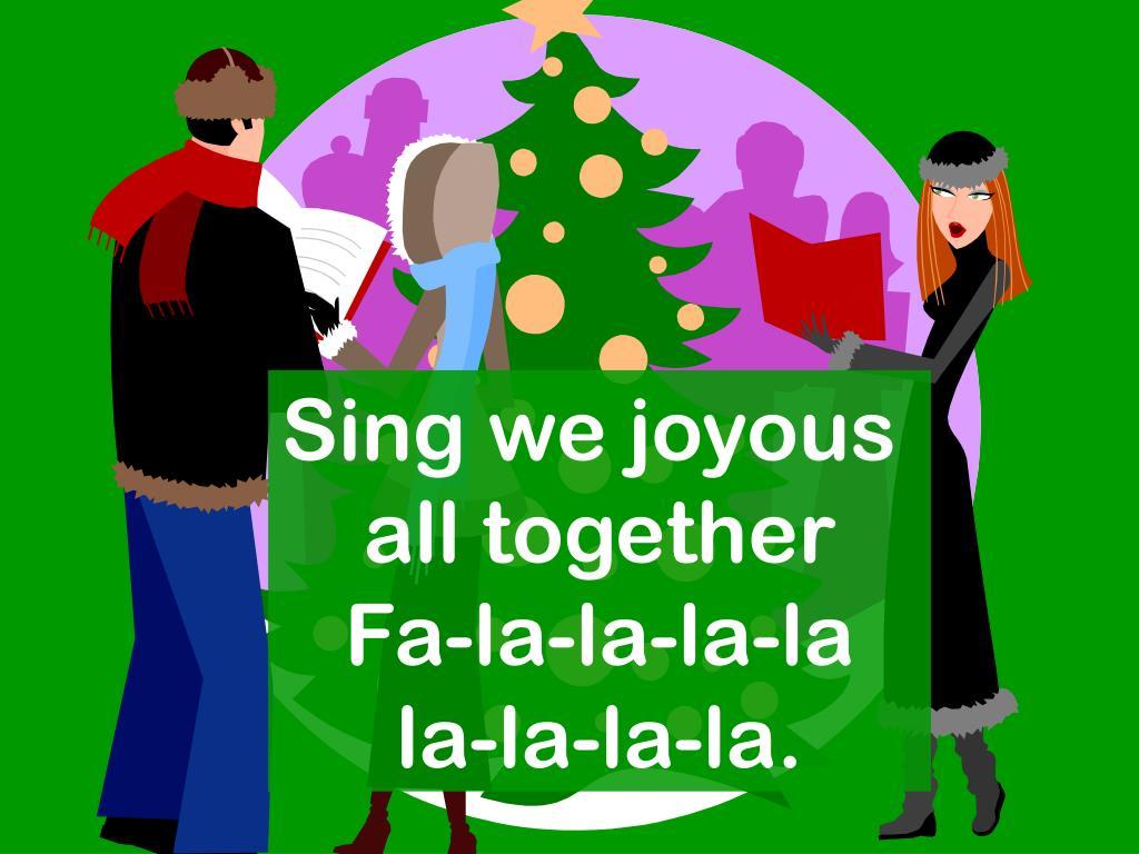 Sing we joyous