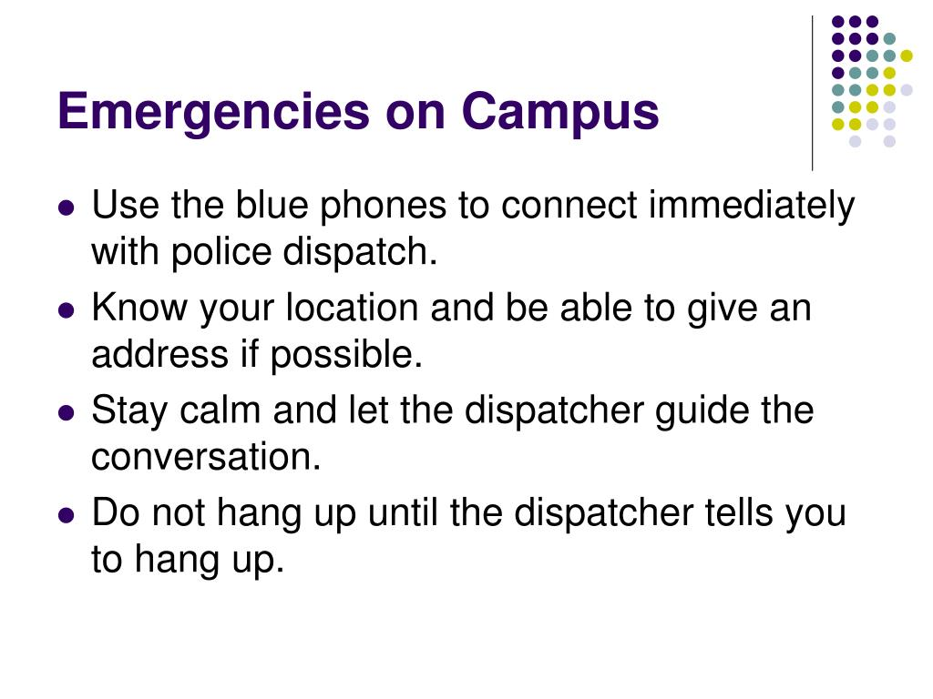 Emergencies on Campus