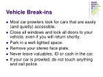 vehicle break ins