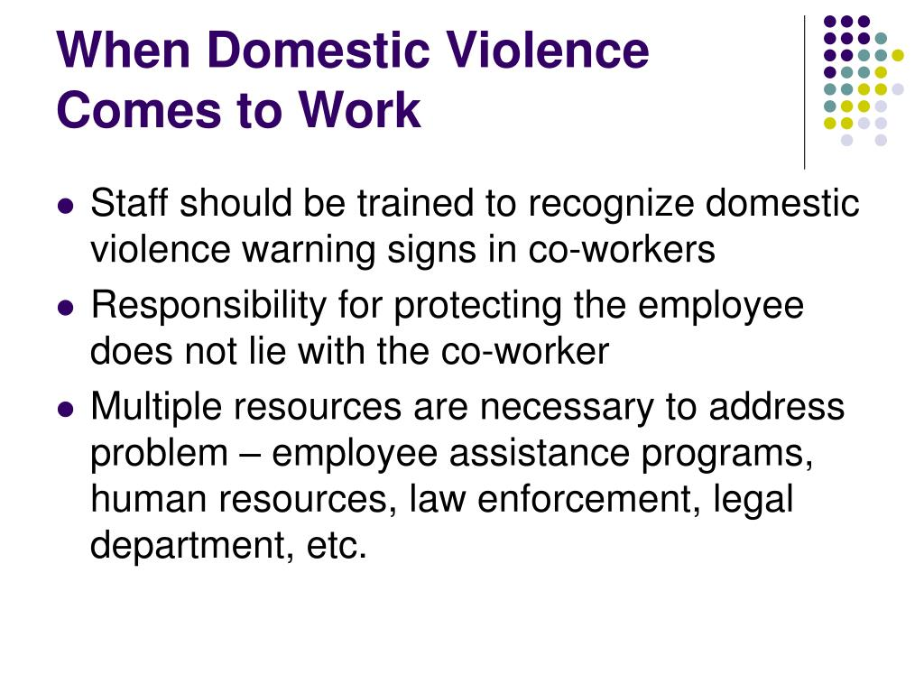 When Domestic Violence Comes to Work