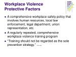 workplace violence protective factors