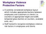 workplace violence protective factors16