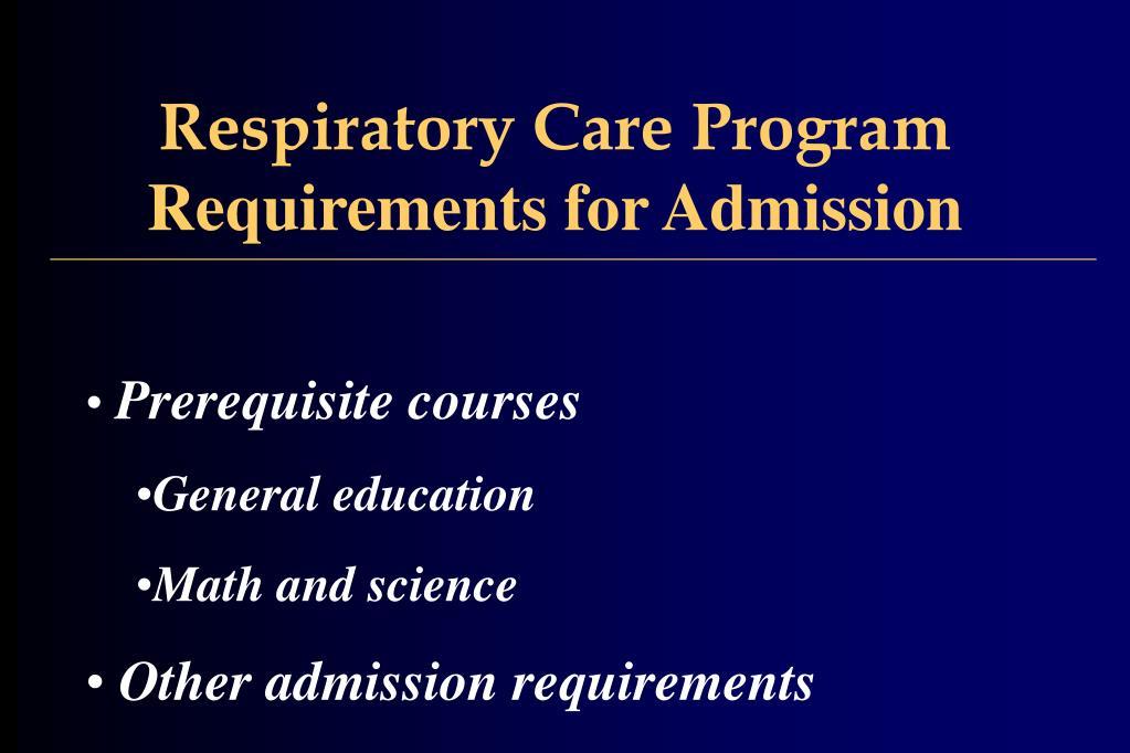 Respiratory Care Program