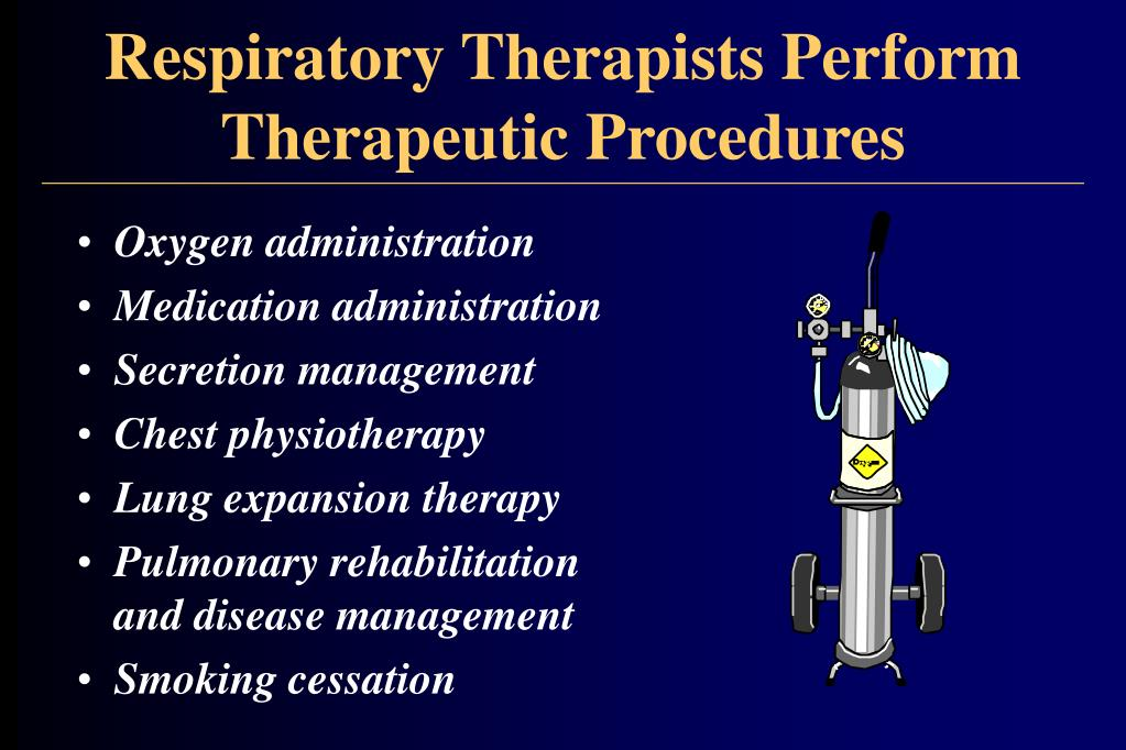 Respiratory Therapists Perform Therapeutic Procedures