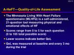 a heft quality of life assessment