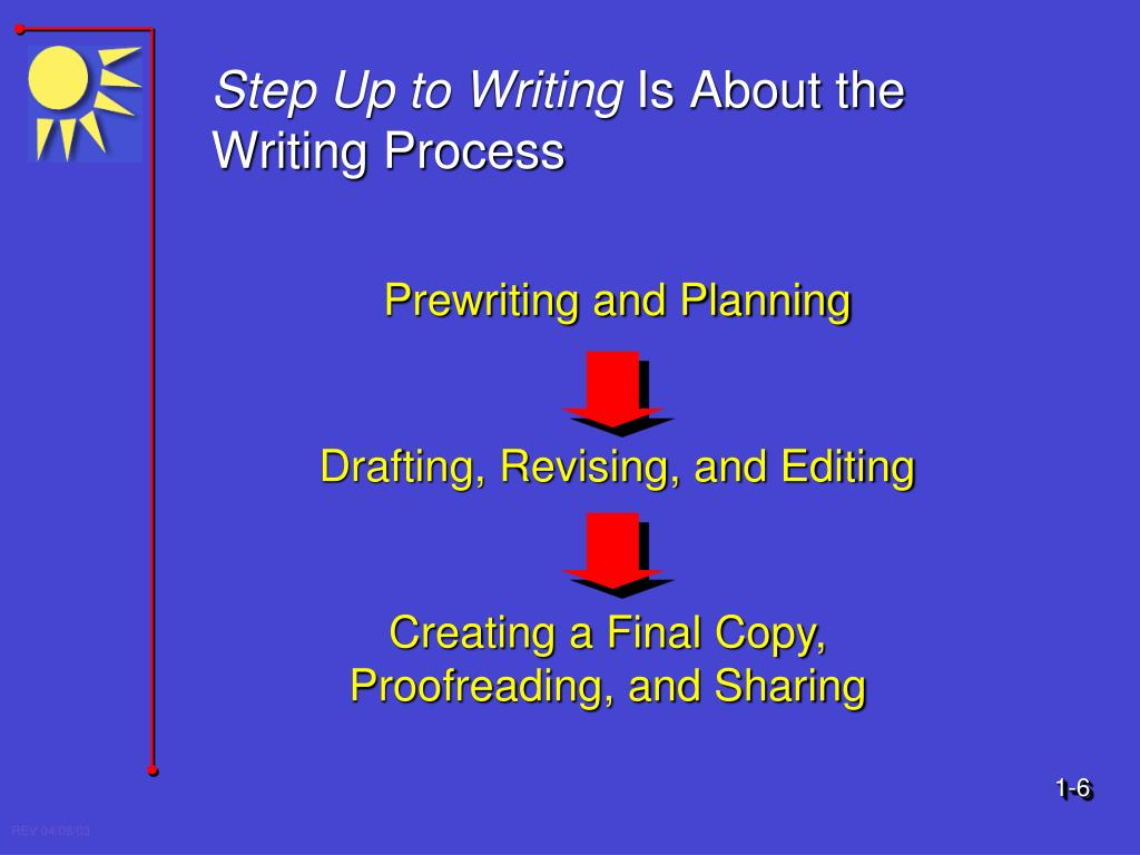 writing process for kids powerpoint The writing process once you select a topic and complete enough research to commit yourself—at least tentatively—to your stance toward that topic, you are ready to begin writing.